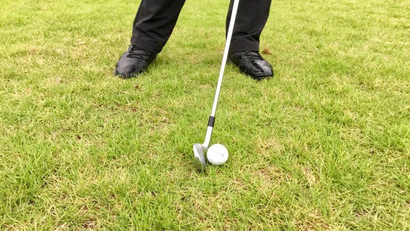 GEN-TENゴルフコースレッスン正しいインパクトアップの写真