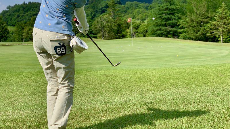 GEN-TENゴルフコースレッスンギャツビイGCアプローチショット後方からの写真