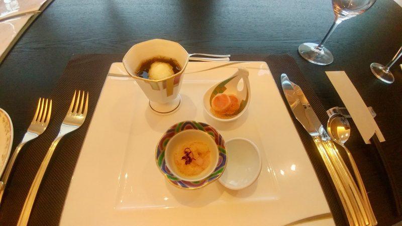 GEN-TENゴルフコースレッスン青森スプリングGC夕食料理の写真