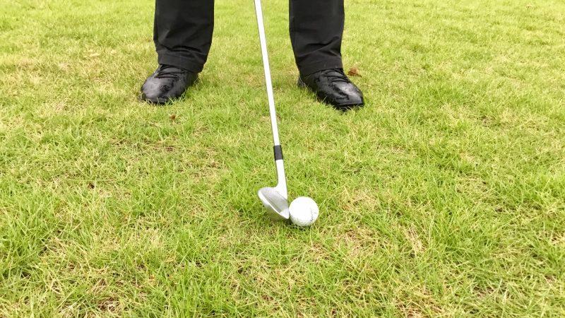 GEN-TENゴルフコースレッスン右足体重のインパクトアップの写真