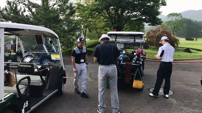 GEN-TENゴルフコースレッスン早朝ハーフラウンド準備の写真