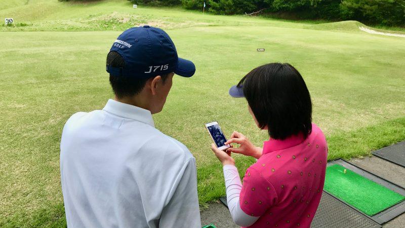 GEN-TENゴルフコースレッスンスリーレイクスCC動画解析の写真