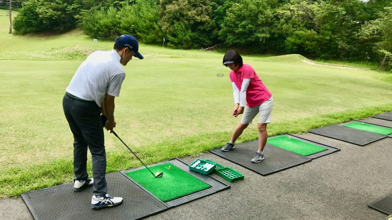 GEN-TENゴルフコースレッスンスリーレイクスCCロングゲームレッスンの写真②