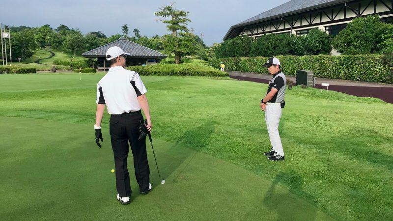 GEN-TENゴルフコースレッスン早朝ハーフパッティング練習の写真②