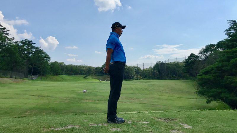 GEN-TENゴルフコースレッスン胸椎のストレッチの写真