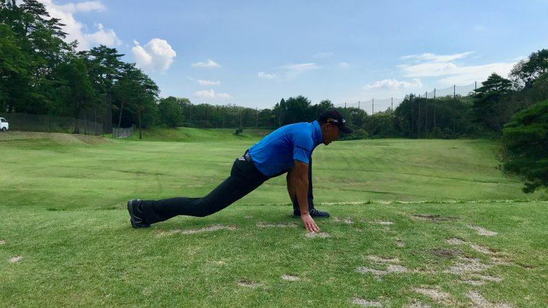 GEN-TENゴルフコースレッスン腸腰筋のストレッチの写真②