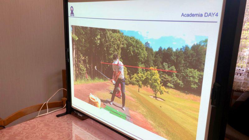GEN-TENゴルフコースレッスンアカデミア講義スライドの写真