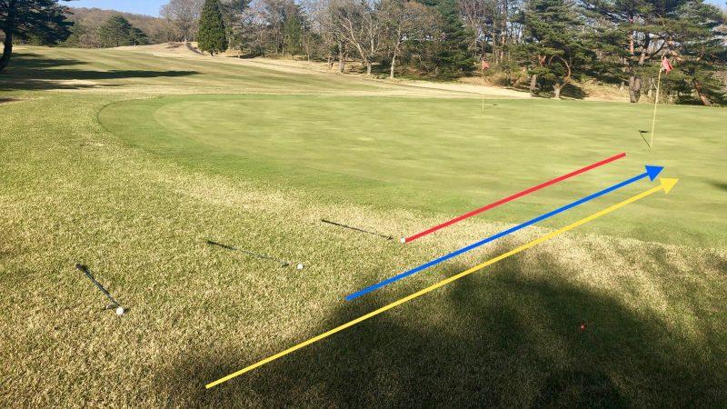 GEN-TENゴルフコースレッスングリーン周り線入りの写真