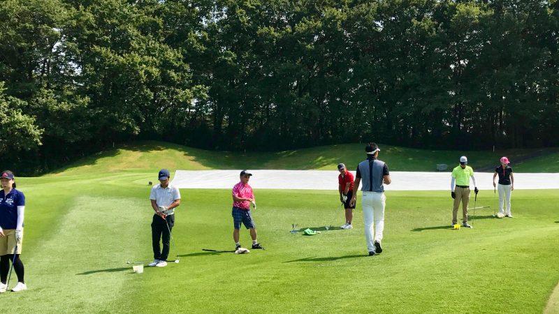 GEN-TENゴルフコースレッスンゲンテンアプローチ定点練習の写真