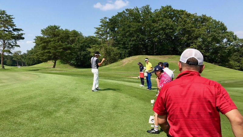 GEN-TENゴルフコースレッスンゲンテンアプローチ定点練習説明の写真②
