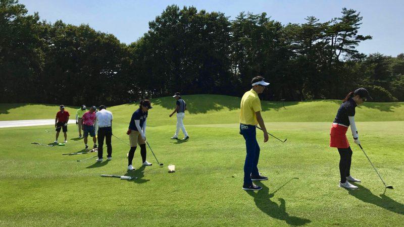 GEN-TENゴルフコースレッスンゲンテンアプローチ定点練習説明の写真③