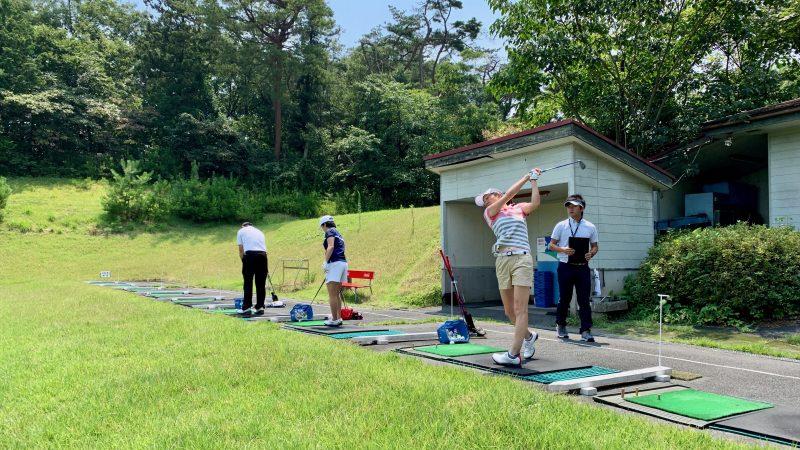 GEN-TENゴルフコースレッスン説明会&体験レッスンドライビングレンジ背面からの写真