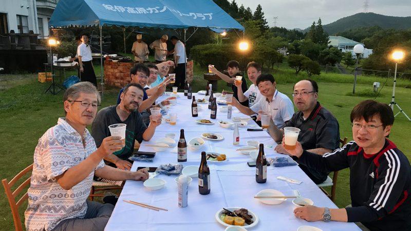 GEN-TENゴルフコースレッスン紀伊高原GC夕食乾杯の写真
