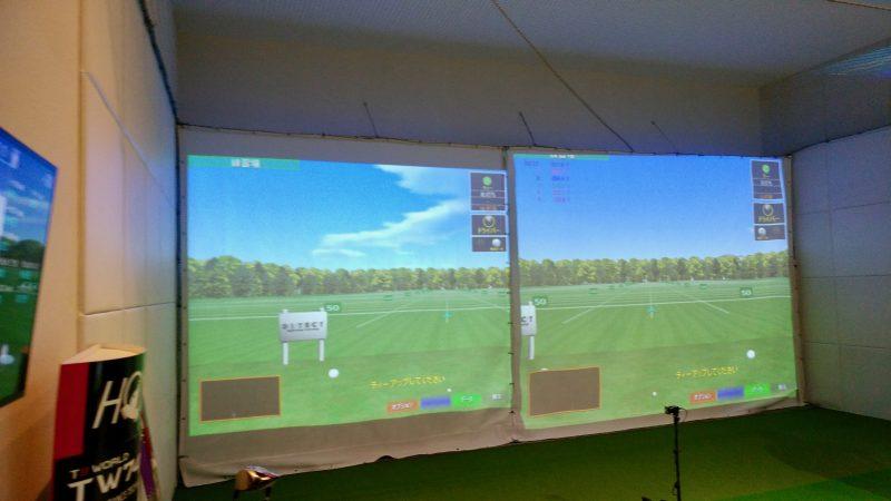 GEN-TENゴルフコースレッスン朝霧CCシミュレーターの写真