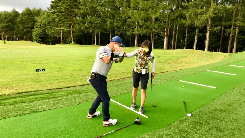 GEN-TENゴルフコースレッスン強化合宿サニーCC2日目居残り練習の写真②