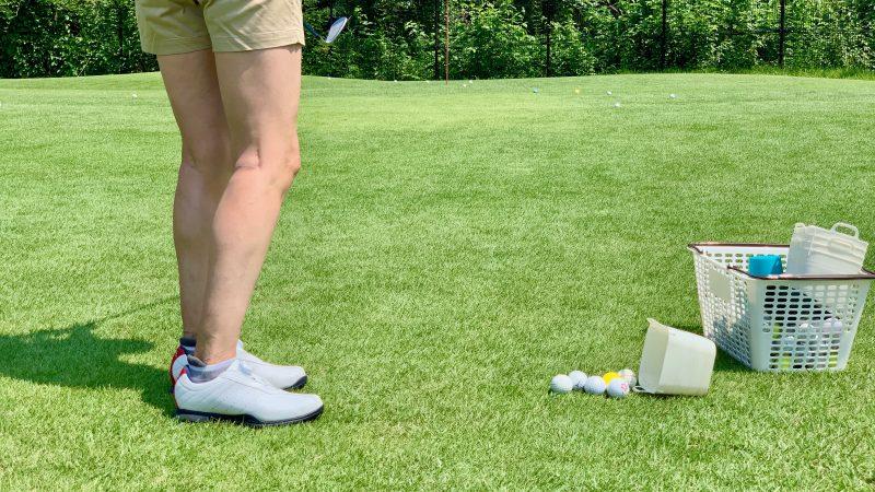 GEN-TENゴルフコースレッスン説明会&体験レッスンアプローチ飛球線後方の写真