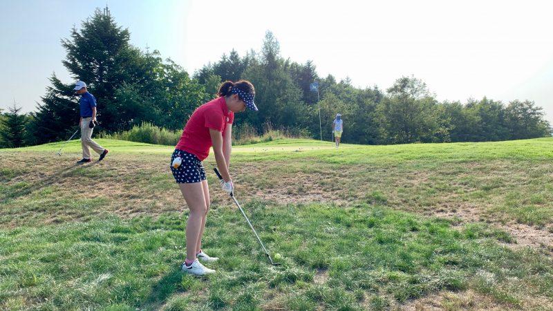 GEN-TENゴルフコースレッスンマオイGRアプローチエリアラフからのアプローチの写真