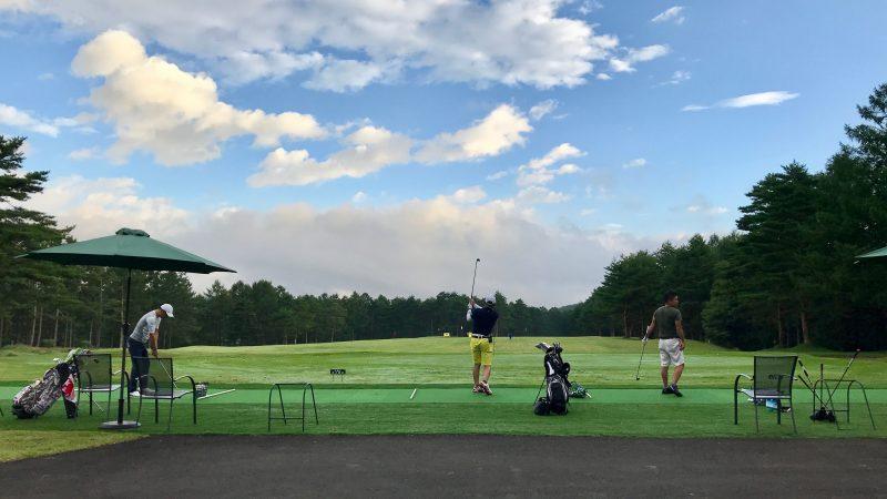 GEN-TENゴルフコースレッスン強化合宿サニーCC3日目朝練ショットの写真