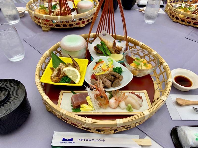 GEN-TENゴルフコースレッスンマオイGR夕食料理の写真