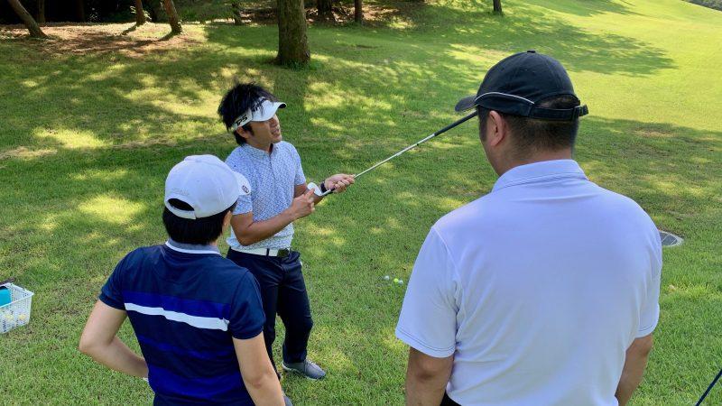 GEN-TENゴルフコースレッスン説明会&体験レッスン打点の説明の写真