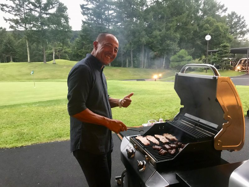 GEN-TENゴルフコースレッスン強化合宿サニーCC2日目BBQの写真