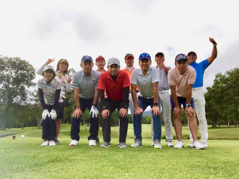GEN-TENゴルフコースレッスン強化合宿サニーCC集合写真