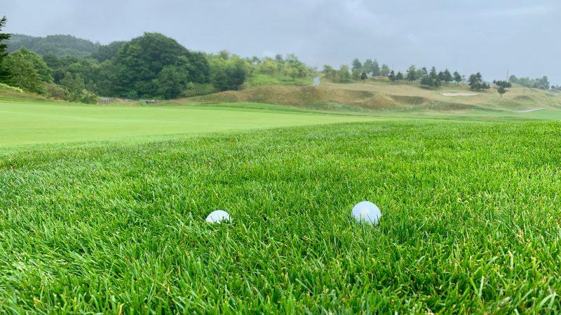GEN-TENゴルフコースレッスンマオイGRラフとボールの写真