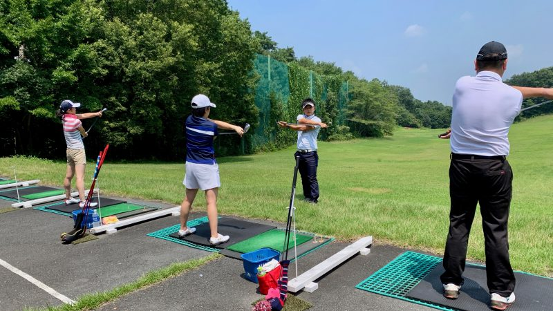 GEN-TENゴルフコースレッスン説明会&体験レッスンストレッチの写真