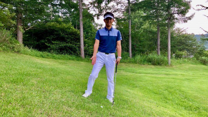 GEN-TENゴルフコースレッスン左足下がりのライの写真