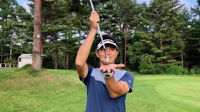 GEN-TENゴルフコースレッスンクラブの入射角の説明の写真