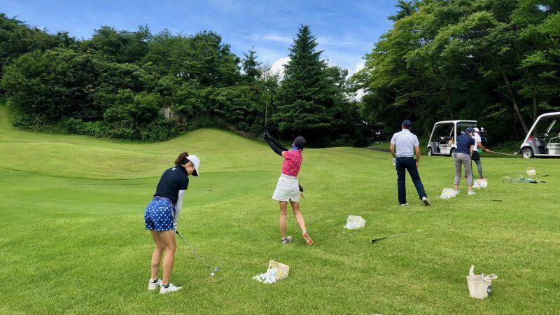 GEN-TENゴルフコースレッスングランディ那須白河GCラフからのショットの写真