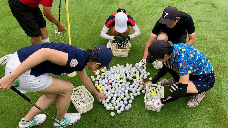 GEN-TENゴルフコースレッスングランディ那須白河GCアカデミーコースボール拾いの写真