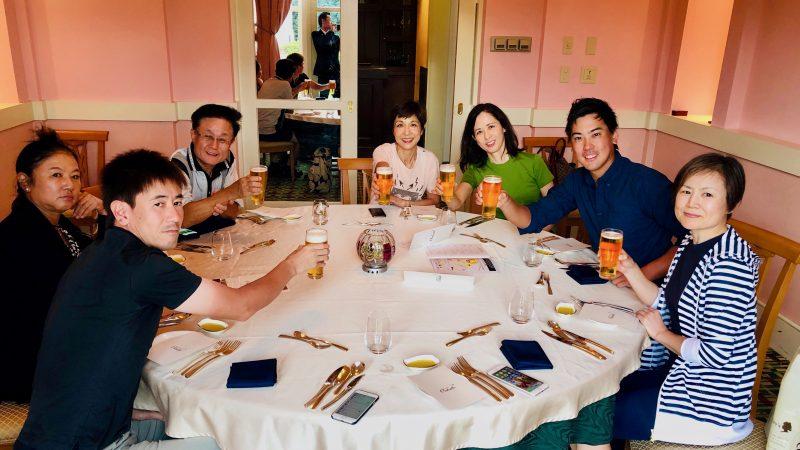 GEN-TENゴルフコースレッスングランディ那須白河GC夕食乾杯の写真
