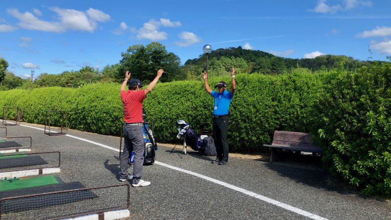 GEN-TENゴルフコースレッスンハーフラウンド千刈CCストレッチの写真