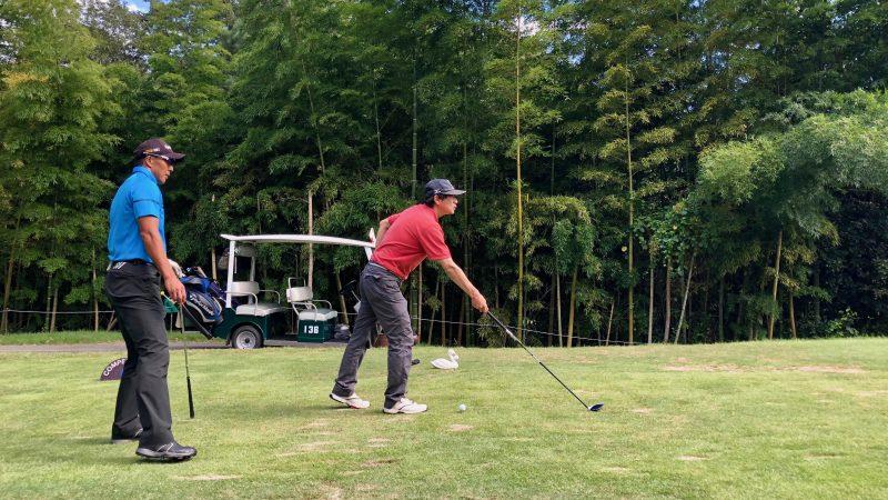 GEN-TENゴルフコースレッスンハーフラウンド千刈CCアライメントチェックの写真②