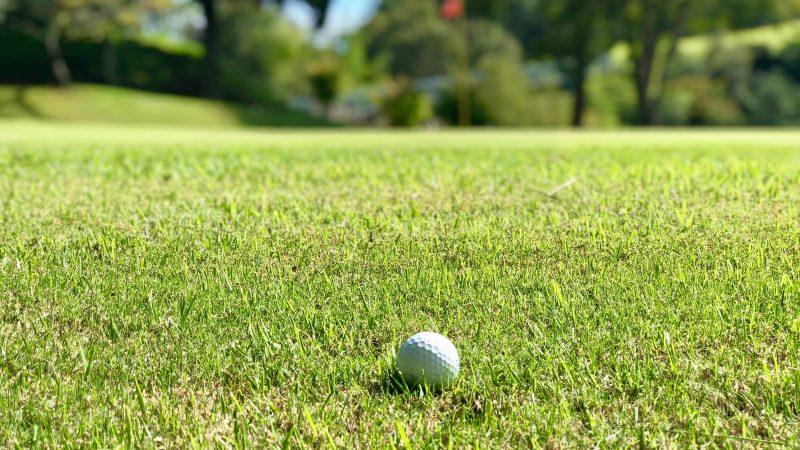 GEN-TENゴルフコースレッスンハーフラウンド千刈CCフェアウェイにあるボールの写真