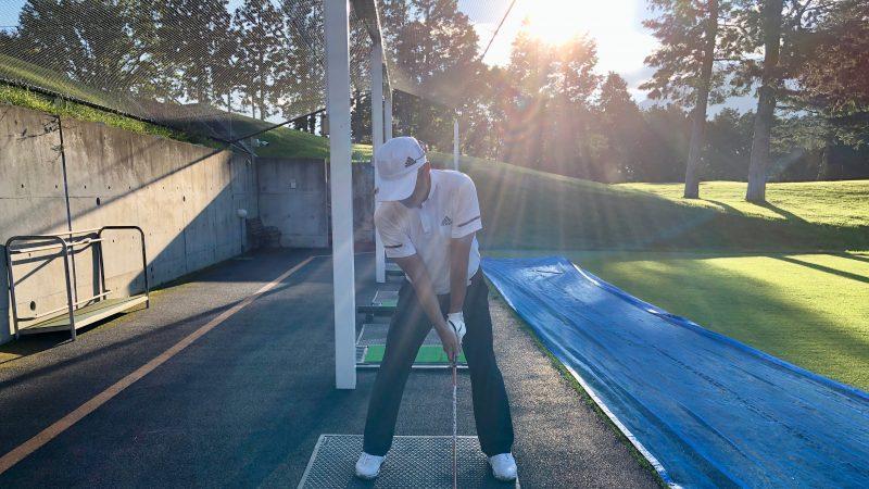 GEN-TENゴルフコースレッスンDC朝霧CC振り返り練習の写真
