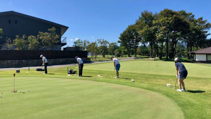 GEN-TENゴルフコースレッスンDC朝霧CC復習練習アプローチの写真