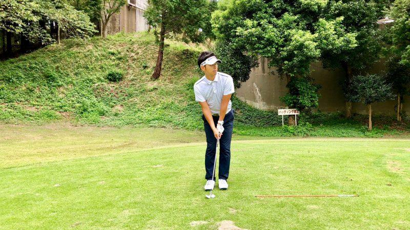 GEN-TENゴルフコースレッスン間違ったボールの見方正面からの写真