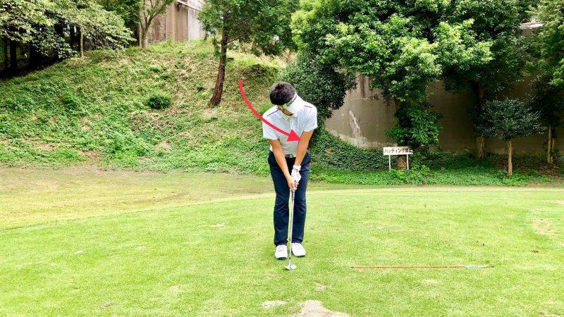 GEN-TENゴルフコースレッスン正しいボールの見方正面からの写真
