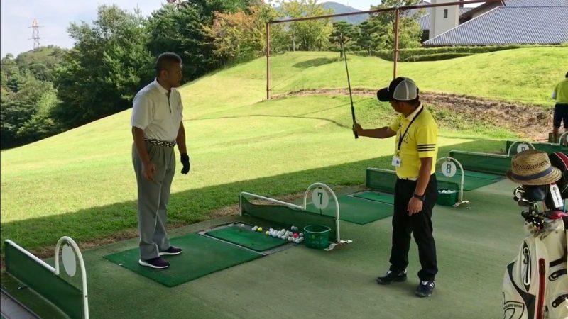 GEN-TENゴルフコースレッスンスイング説明の写真