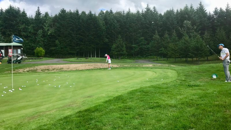 GEN-TENゴルフコースレッスン強化合宿マオイGRアプローチ練習の写真