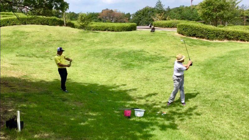 GEN-TENゴルフコースレッスンアプローチ動画撮影の写真