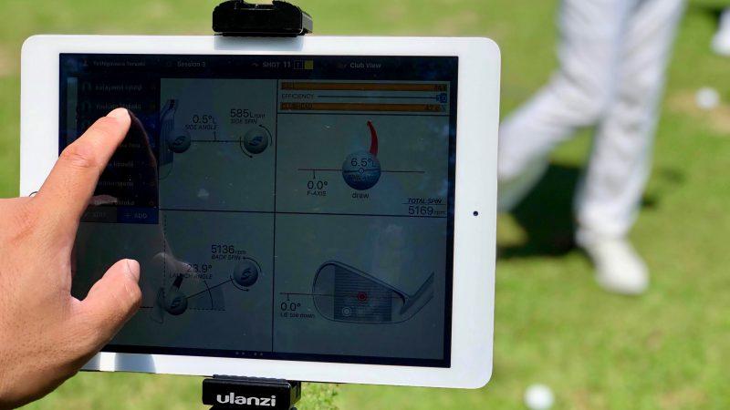 GEN-TENゴルフコースレッスン強化合宿サニーCC2日目ipadの写真