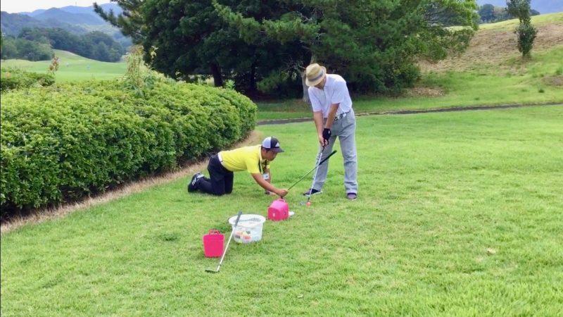 GEN-TENゴルフコースレッスンアプローチアライメントの写真