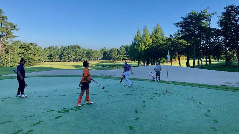 GEN-TENゴルフコースレッスンDC静ヒルズCC早朝練習パッティングの写真