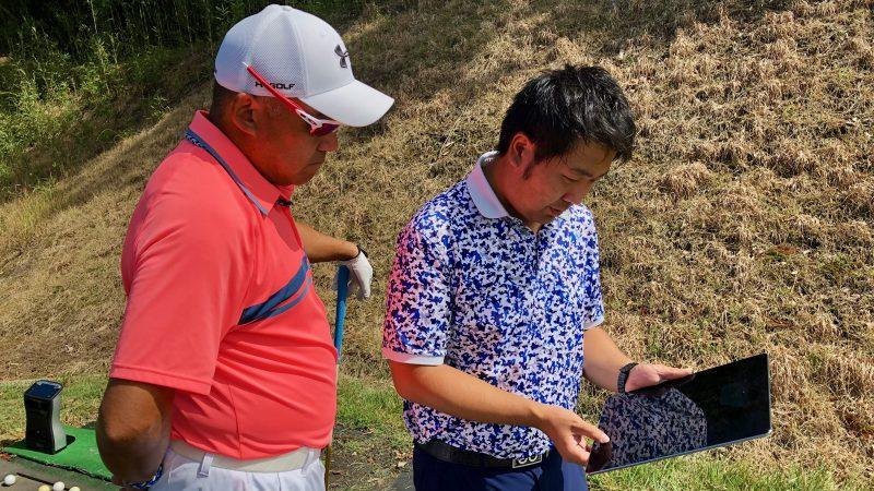 GEN-TENゴルフコースレッスンDC静ヒルズCCデータチェックの写真
