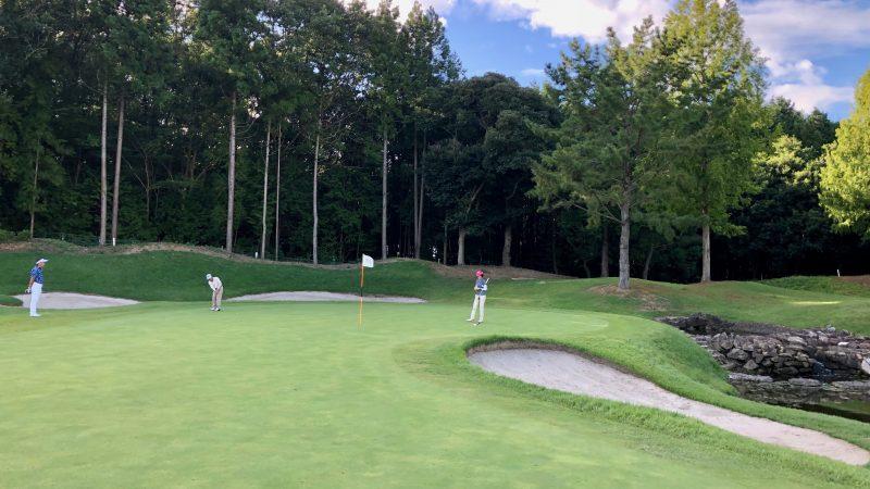 GEN-TENゴルフコースレッスンDC静ヒルズCCハーフラウンドパッティングの写真
