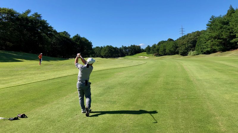 GEN-TENゴルフコースレッスンDC静ヒルズCCハーフラウンドセカンドショットの写真
