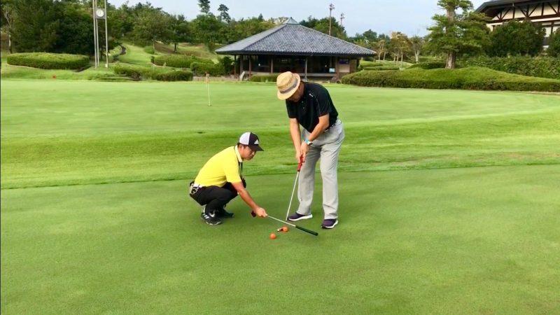 GEN-TENゴルフコースレッスンパッティング練習の写真